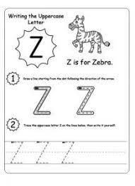 uppercase letter z worksheet trace line uppercase letter z