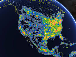 Northern Lights Map Cities With The Most Light Pollution Business Insider