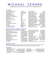 Sample Dance Resume For Audition by Theatre Resumes Free Resume Example And Writing Download