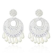 white earrings kenneth white earrings hauteheadquarters