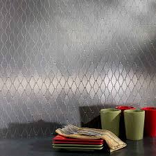 Metal Wall Tiles Kitchen Backsplash Kitchen Backsplash Metallic Wall Tiles Kitchen Stainless Steel