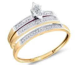 cheap gold wedding rings yellow gold bridal set engagement rings set