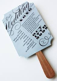 Magazine Wedding Programs Items Similar To As Seen In Brides Magazine Wedding Program Fan On