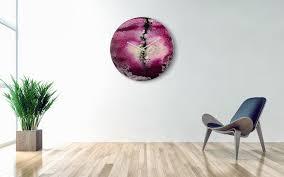 oversized decorative clock in purple modern home accessories uk