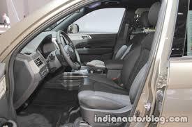 2017 ssangyong rexton front seats at iaa 2017 indian autos blog