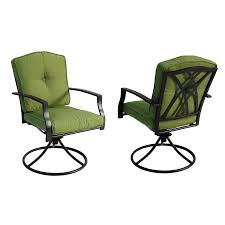 Swivel Patio Dining Chairs Shop Garden Treasures Set Of 2 Cascade Creek Textured Black Seat