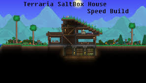 salt box houses terraria saltbox roof house speed build youtube
