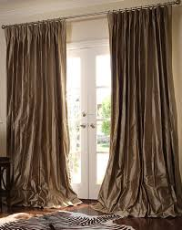 Luxury Linen Curtains Living Room Luxurious Living Room Decor Idea With Long Brown Linen