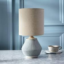 ceramic table lamp roar ripple ceramic table lamp small narrow cool gray west elm vintage ceramic ceramic table lamp