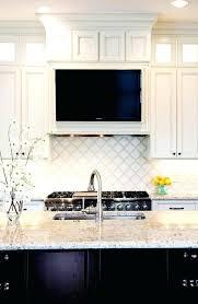 Under Kitchen Cabinet Tv Dvd Cd Player Radio Kitchen Hood With Niche Under Cabinet Tv Dvd Combo Transitional