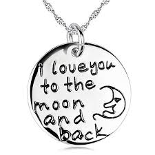 I Love You To The Moon And Back Personalized Necklace Engraved U2013 Abc Necklace