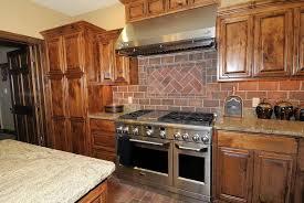 brick tile backsplash kitchen faux brick tile backsplash in the kitchen cabinet hardware room