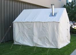 wall tent setup