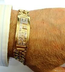 name link bracelet images 14k yellow gold solid diamond id double raws cubin link bracelet jpg