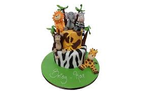 tiered jungle cake