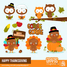 happy thanksgiving digital clipart set thanksgiving clipart