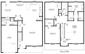 floor plans 2 story homes story polebarn house plans two home floor 2