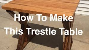 How To Build A Trestle Table Make A Butcher Block Trestle Table Youtube