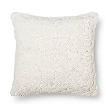 Throw Pillow Chunky Chenille Oversized Cream Ivory 24x24