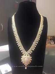 diamond long necklace images Bridal diamond long necklace model jewellery pinterest jpg