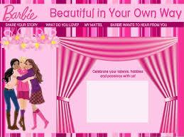 Barbie Invitation Card Barbie Background On Wallpaperget Com