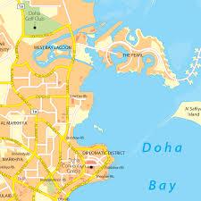 doha qatar map qatar doha maps
