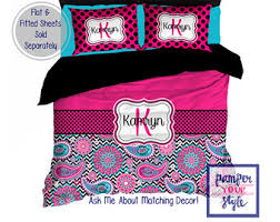 Personalized Girls Bedding by Horse Custom Bedding Personalized Or Monogrammed Comforter