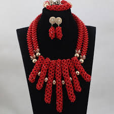 coral bead necklace images Fashion man long design coral beads sets nigerian african wedding jpg
