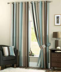 Teal Window Curtains Interior Stylish Striped Window Curtains To Decorate Your Home