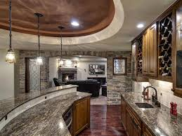 interior luxury classic basement bar ideas with black leather