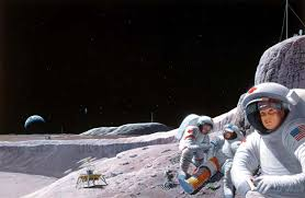 living and working on the moon