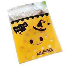 100x diy self adhesive pumpkin bat halloween party cookies candy