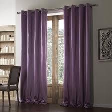 Lavender Window Curtains Twopages Contemporary Lavender Linen Cotton Blend Grommet Top