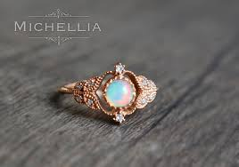 vintage opal engagement rings vintage opal ring in 14k or 18k solid gold