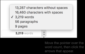 Count Word In Document Pages For Mac Word Count And Other Document Statistics In A