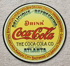 Home Decor Atlanta Coca Cola Round 12 U0027 U0027 Metal Signs Button Soda Fountain Bottle Home