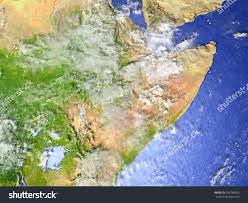 Horn Of Africa Map by Horn Africa On Model Earth 3d Stock Illustration 596748503