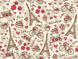 eiffel tower wrapping paper vintage background stock vector image 43926520
