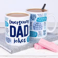 funny father u0027s day mug emergency dad jokes dad birthday