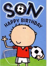 happy birthday son cartoon card in braille