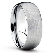 titanium wedding rings titanium wedding band grey titanium ring dome brushed ring