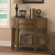 Accent Table With Drawer Accent Tables 2 Drawer Demilune Entry Table With Shelf Quality