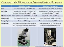 name one advantage of light microscopes over electron microscopes the advantage of a compound light microscope over an electron is
