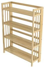 32 Inch Wide Bookcase Stony Edge Folding Bookcase 4 Shelves 32