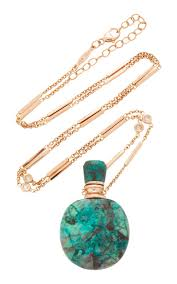 round turquoise necklace images Medium round turquoise potion bottle necklace on smooth bar and jpg