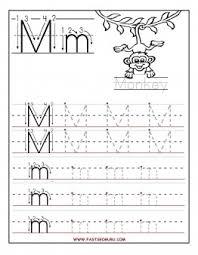 printable letter m tracing worksheets for preschool printable