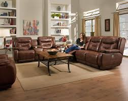 Reclining Sofa With Console by Southern Motion Crescent Double Reclining Sofa With Power Headrest
