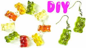 make your own gummy bears diy gummy jewelry bracelet earrings charm ring