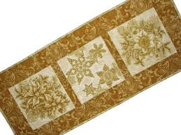 gold christmas table runner christmas quilted table runner gold and cream holiday table mat