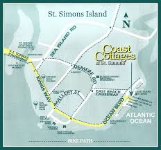 Sea Airport Map Coast Cottages At St Simons Island Georgia Real Estate Maps